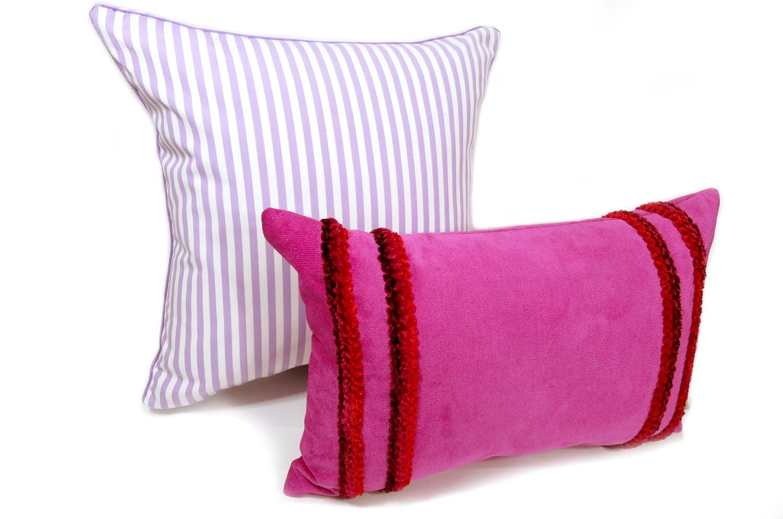The Purple Stripe 爽やかパープルストライプクッションカバー 45×45cm