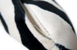 The Zebra 白黒ゼブラ柄が気高い 起毛スエードタッチクッション 52×33cm 中材付