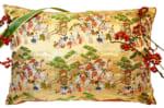 The Kinran Emaki 金襴絵巻 西陣ビッグクッション 67×45×5cm 中材付