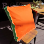 The Water-repellent アウトドア撥水加工クッション カラフルオレンジ 55×55cm 中材付