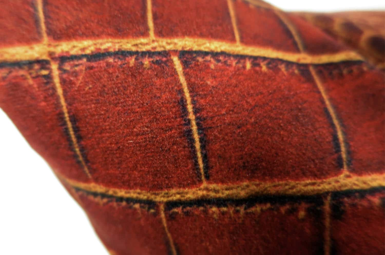 The Reddishbrown Crocodile スペイン製 起毛スエード調 クロコダイル柄クッションカバー レディッシュブラウン 50×50cm