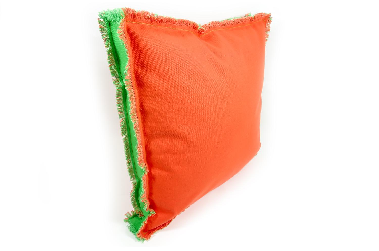 アウトドア 撥水加工 カラフルオレンジクッション 55×55cm 中材付