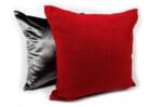 The Deep Red 厚地な深い赤色のクッションカバー 45×45cm