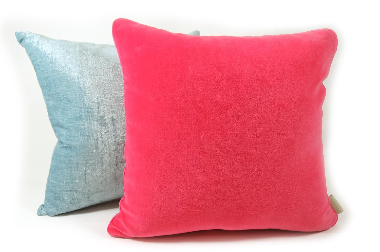 The Cherry Pink Velour コットンベロアクッションカバー  チェリーピンク 45×45cm