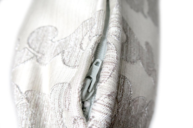 The Gray Damask ダマスク柄クッションカバー グレー 50×50cm