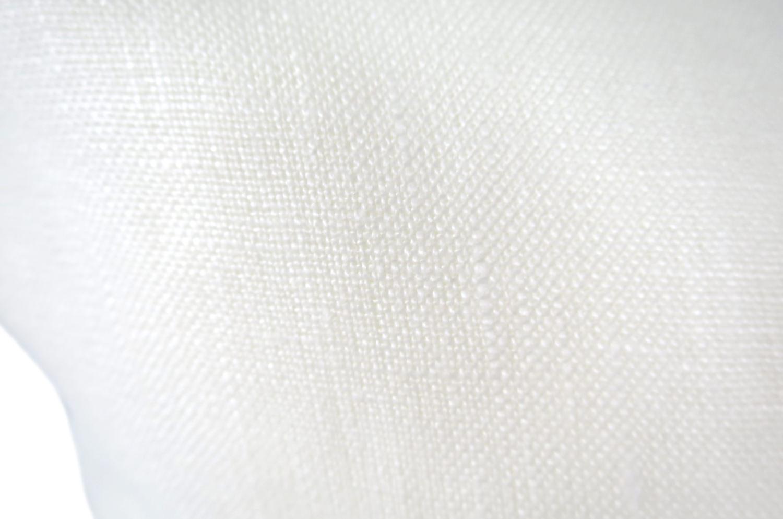 The Black Line 天然リネンクッションカバー ホワイト+ブラックライン 45×45cm