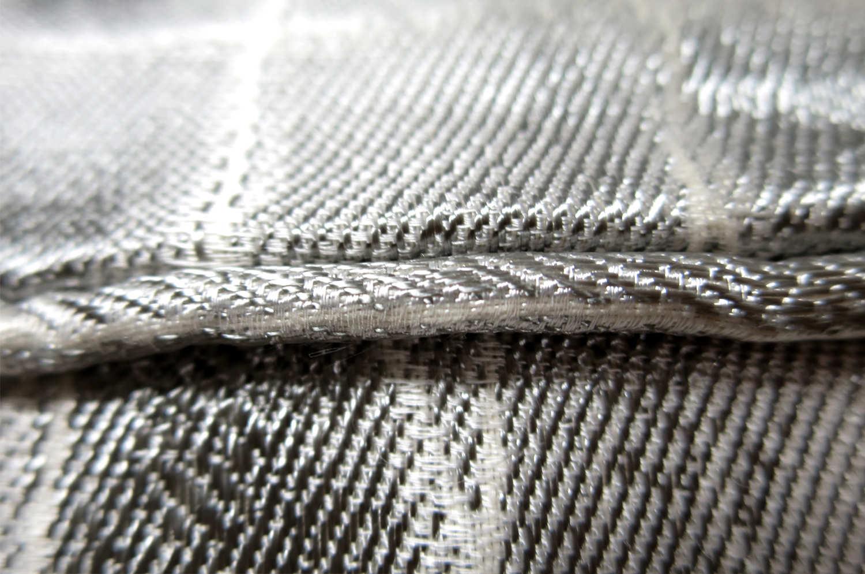 The ARMANI/CASA LISBON Argento アルマーニカーザ ジャカードパイピングクッション シルバー 45×30cm 中材付