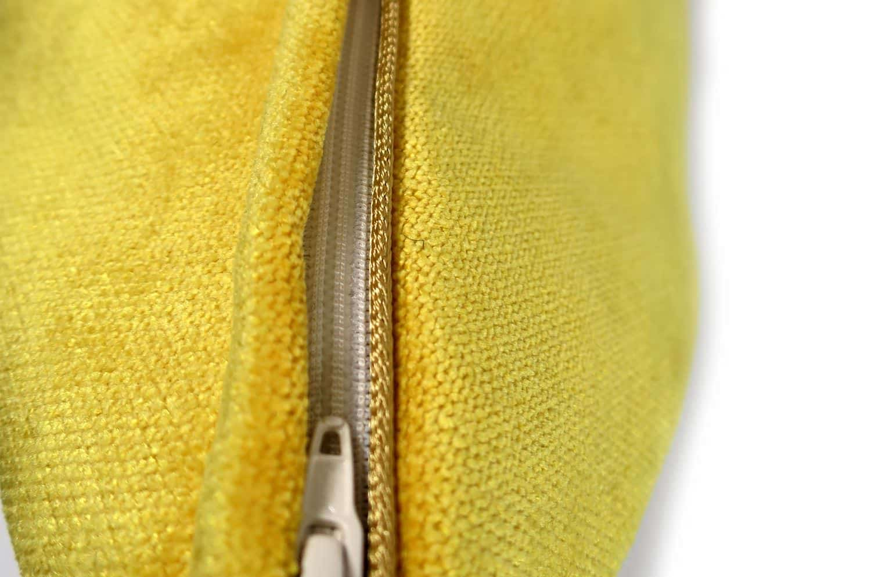 The Cute Velvet キュートベルベットクッションカバー マスタードイエロー 45×45cm