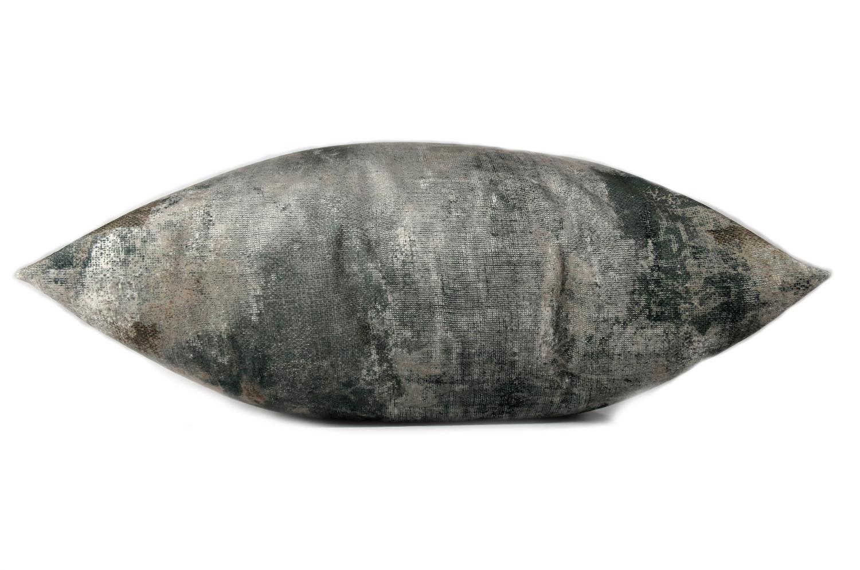 The Gray Fluid スペイン製 両面起毛スエード調クッションカバー グレー 50×50cm