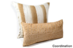 The Light beige Crocodile スペイン製 起毛スエード調 クロコダイル柄クッション ベージュ 50×25cm 中材付