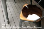 The Hair on Cow Hide Round Sheet カウハイド ラウンドシートクッション No.01-04 Φ35cm