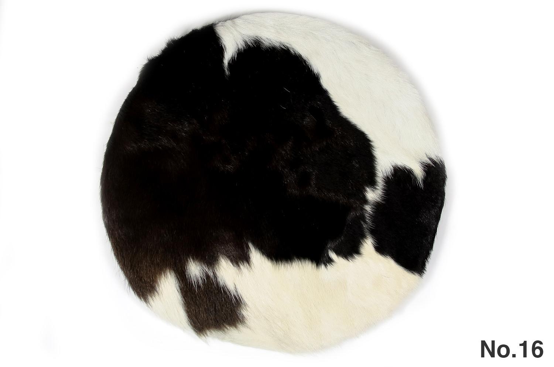 The Hair on Cow Hide Round Sheet カウハイド ラウンドシートクッション No.13-16 Φ35cm