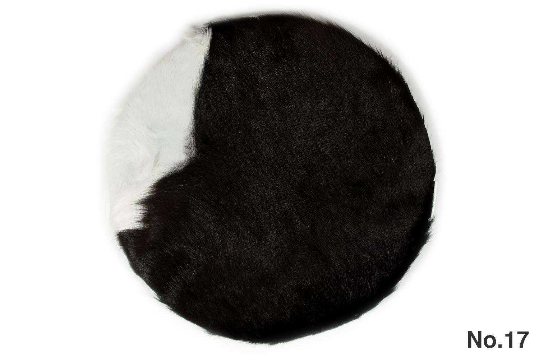 The Hair on Cow Hide Round Sheet カウハイド ラウンドシートクッション No.17-20 Φ35cm