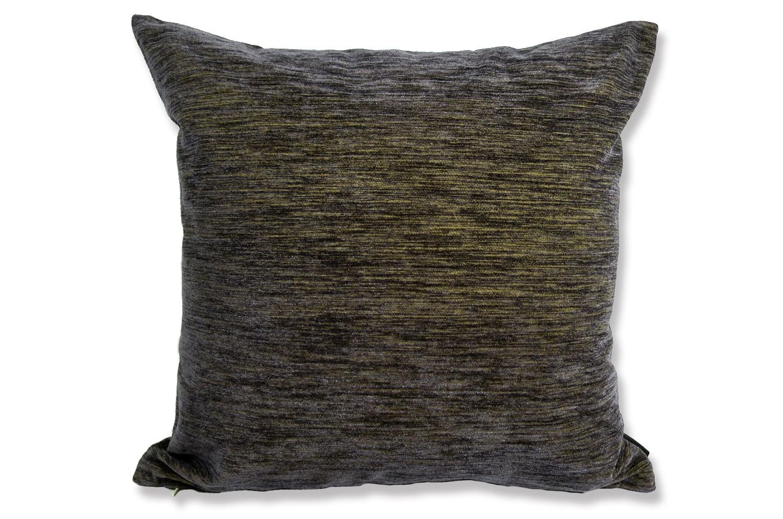The JIM THOMPSON Fabric ジムトンプソン生地使用 ブラックミックスイエロークッションカバー 50×50cm
