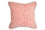 The JIM THOMPSON Fabric ジムトンプソン生地使用 木肌柄クッションカバー オレンジ 45×45cm