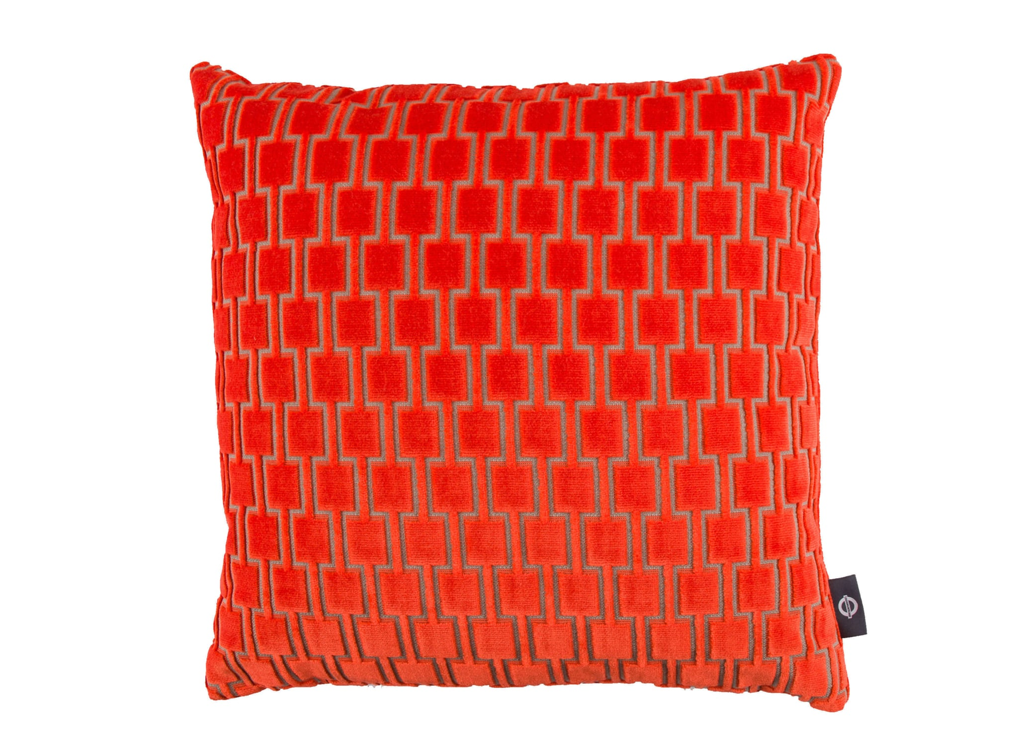 【海外取寄品】The Bakerloo クッション Neon Orange by kirkbydesign 43×43cm 中材付