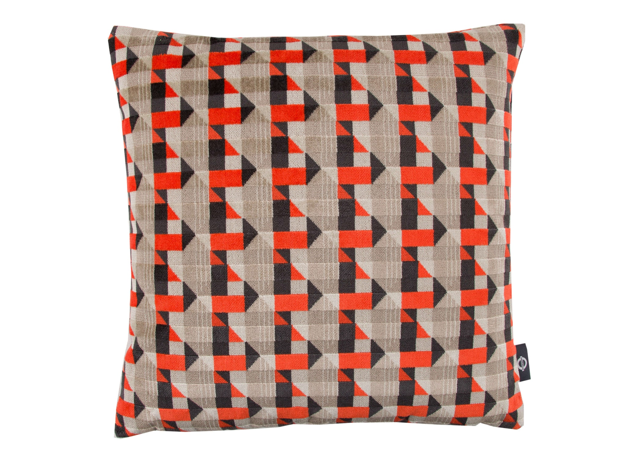 【海外取寄品】The Piccadilly クッション Neon Orange by kirkbydesign 43×43cm 中材付