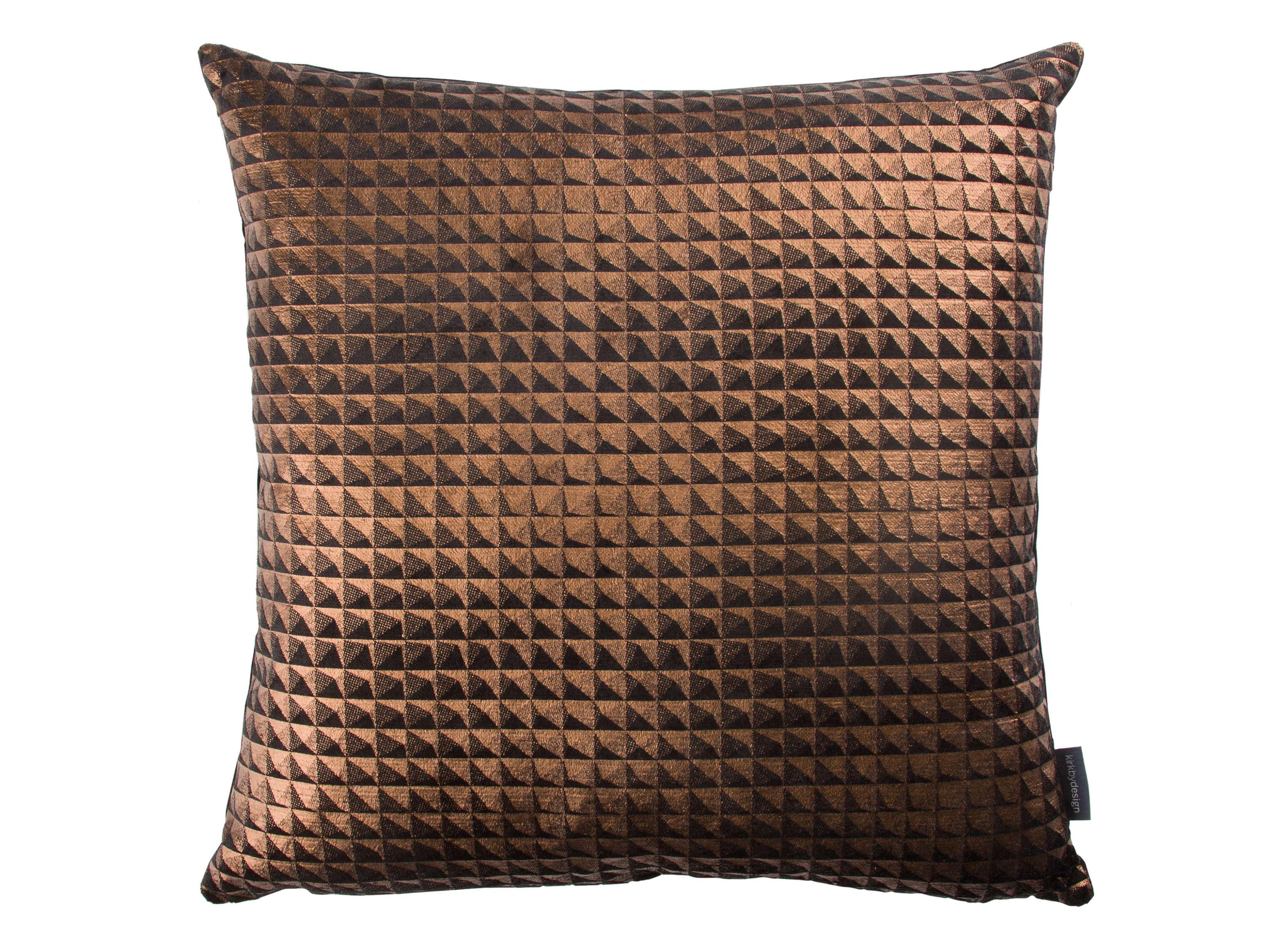 【海外取寄品】The Moonlit Pyramid クッション Bronze by kirkbydesign 50×50cm 中材付