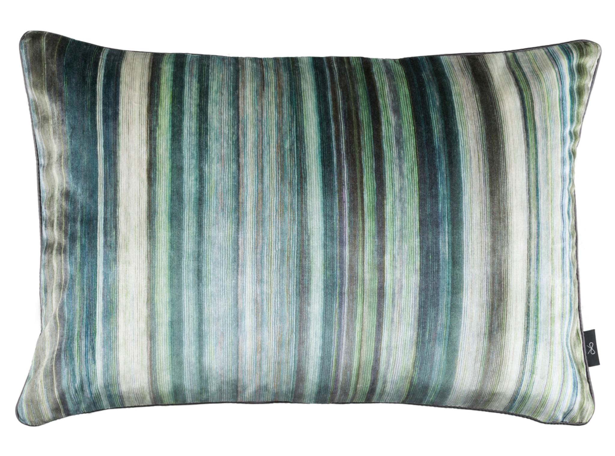 【海外取寄品】The Tomoko Velvet クッション Malachite by BLACK edition 60×40cm 中材付