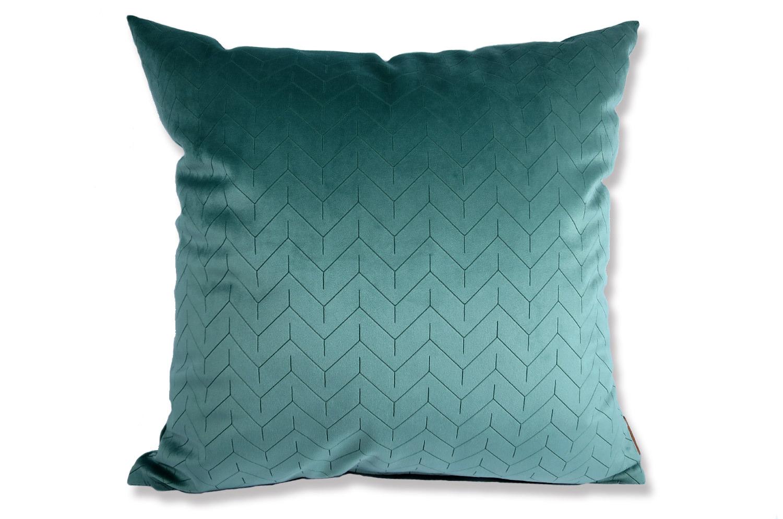 The Horuzon Blue スペイン製起毛スエード調クッションカバー 地平線 50×50cm