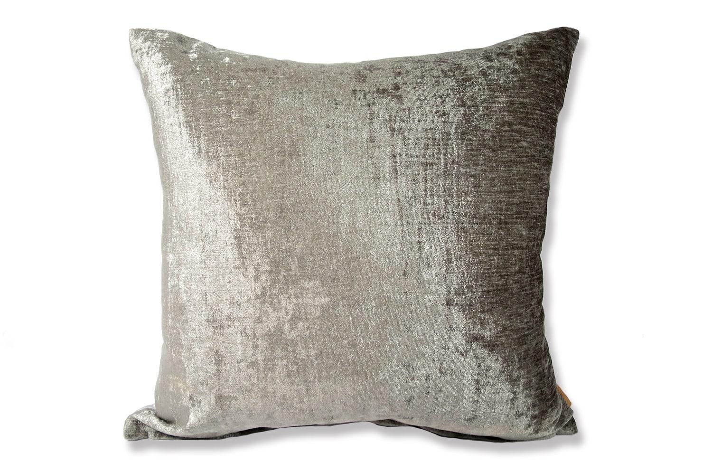 The Dark Grey × Ice Grey Soft Velour ソフトベロアクッションカバー ダークグレー×アイスグレー 40×40cm 45×45cm