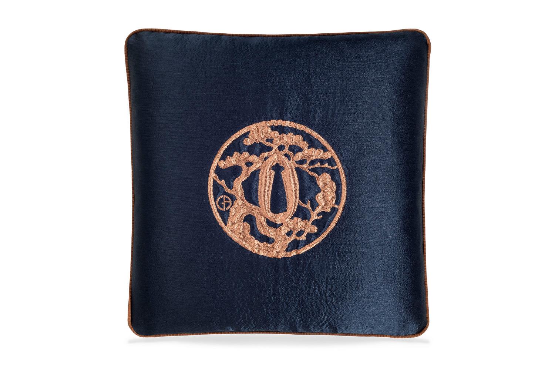 【海外取寄品】The ARMANI/CASA JAPAN アルマーニカーザジャパンクッション MIDNIGHT BLUE/TERRACOTTA 40×40cm 中材付
