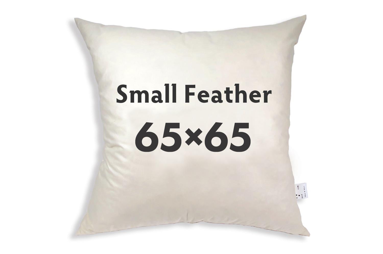 【受注生産品】The Feather  日本製ふかふかスモールフェザー(ダウン入) ヌードクッション(羽根 クッション 中身) 65×65cmカバー用