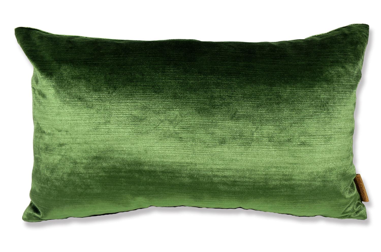 The Velvet 艶ベルベットクッション アイビーグリーン 50×30cm 中材付