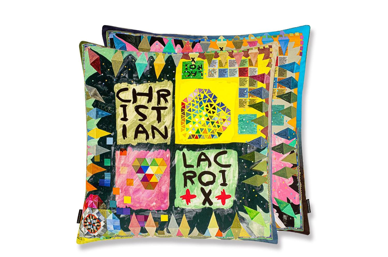 【海外取寄品】The Christian Lacroix クリスチャンラクロワ アルレッキーノ ウッド マルチカラー クッションカバー 50×50cm