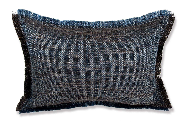 The Shaggy シャギーフリンジクッション ネイビーミックス 45(49)×30(34)cm 中材付