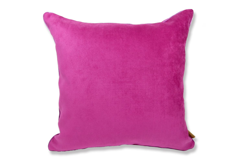 ローズピンク色の美しさと、マットでキュートな可愛さのスエードタッチ45cmクッションカバー