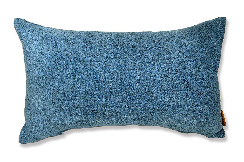 上質なタオルの様な気持ち良さで人気の柔らかウォッシャブル生地を使用した横長クッション(ブルー)