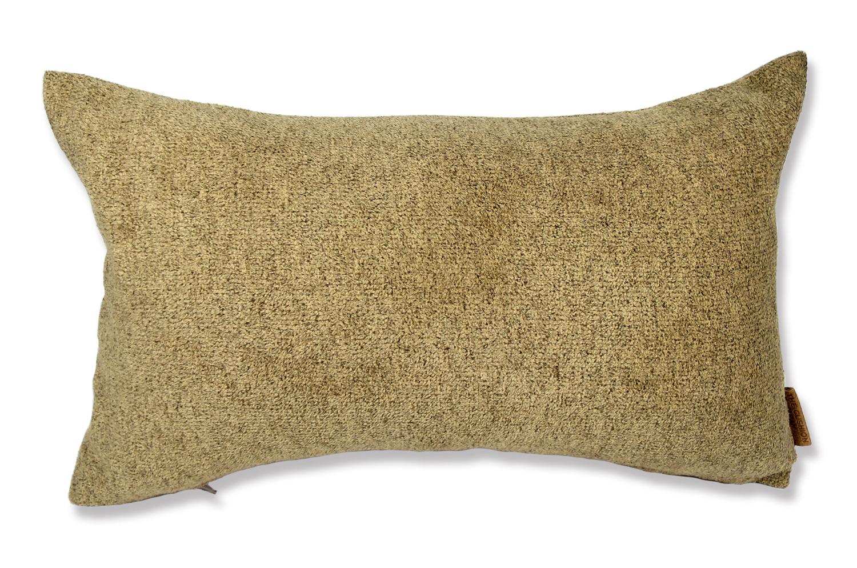 上質なタオルの様な気持ち良さで人気の柔らかウォッシャブル生地を使用した横長クッション(キャメル)