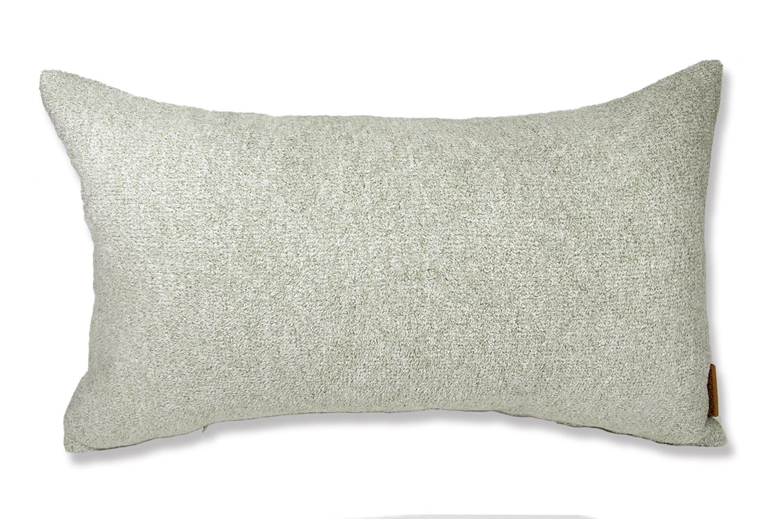 上質なタオルの様な気持ち良さで人気の柔らかウォッシャブル生地を使用した横長クッション(クールグレー)