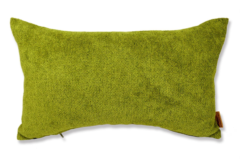 上質なタオルの様な気持ち良さで人気の柔らかウォッシャブル生地を使用した横長クッション(グリーン)