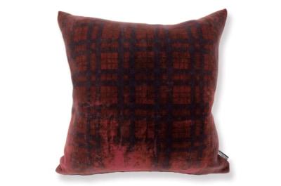 イタリア製高級wool 柔らかクッションカバー ダークレッド 50×50cm
