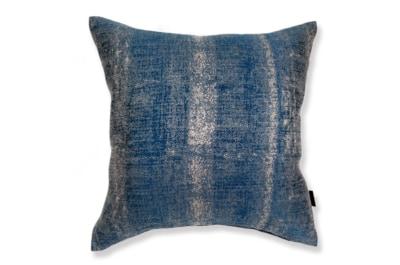 ALDECO Linen Majolica-Blue アルデコクッションカバー 麻 ブルー 45